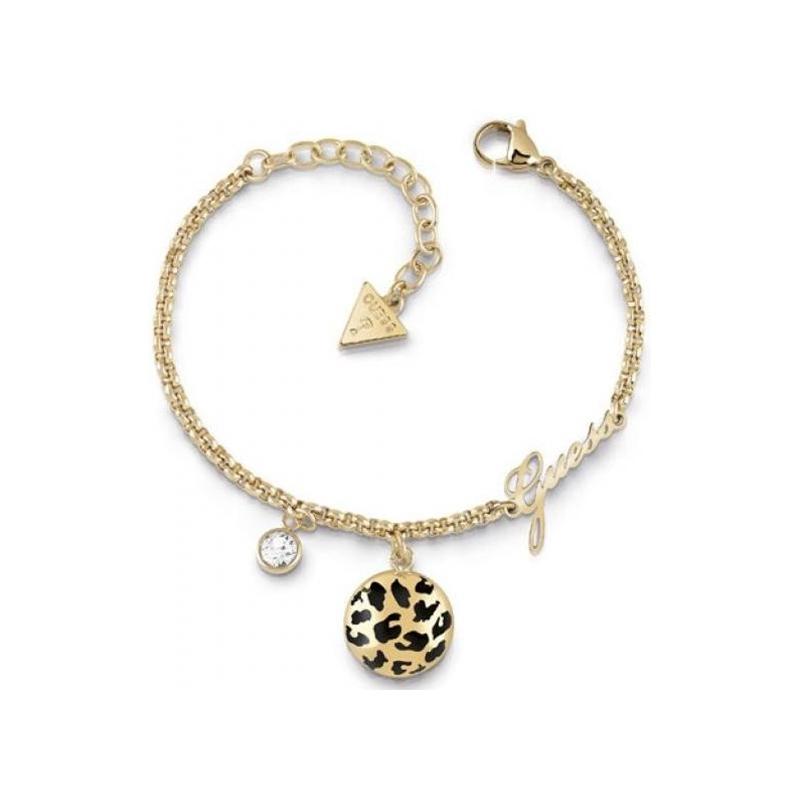Bracelet Curve X Guess en acier doré UBB29136-S