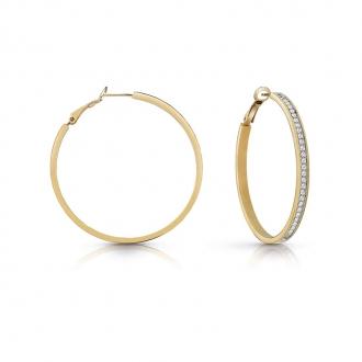 Boucles d'oreilles Guess All Around métal doré et cristaux UBE28095