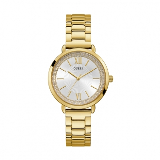 Montre Ladies Dress Guess en acier doré W1231L2