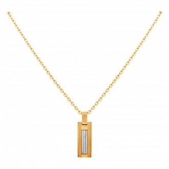 Collier Phebus acier doré et cable 75-0123