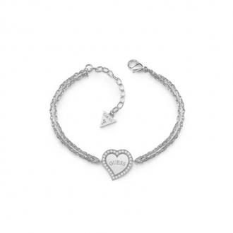 Bracelet Bracelet Guess HEART WARMING en acier argenté UBB78096-S