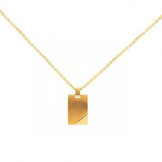 Collier Phebus acier doré brossé et brillant 75-0125