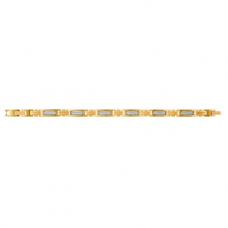 Bracelet Phebus acier doré et cable 35-0950