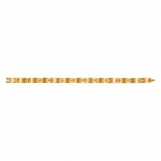 Bracelet Phebus maillons rectangulaires acier doré 35-0951