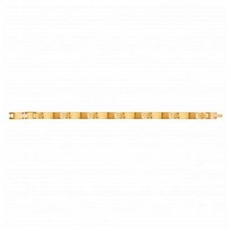Bracelet Phebus maillons rectangulaires acier doré 35-0949