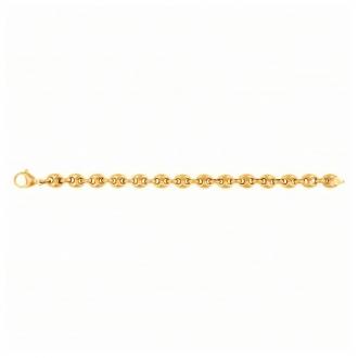 Bracelet grains de café Phebus acier doré 35-0952