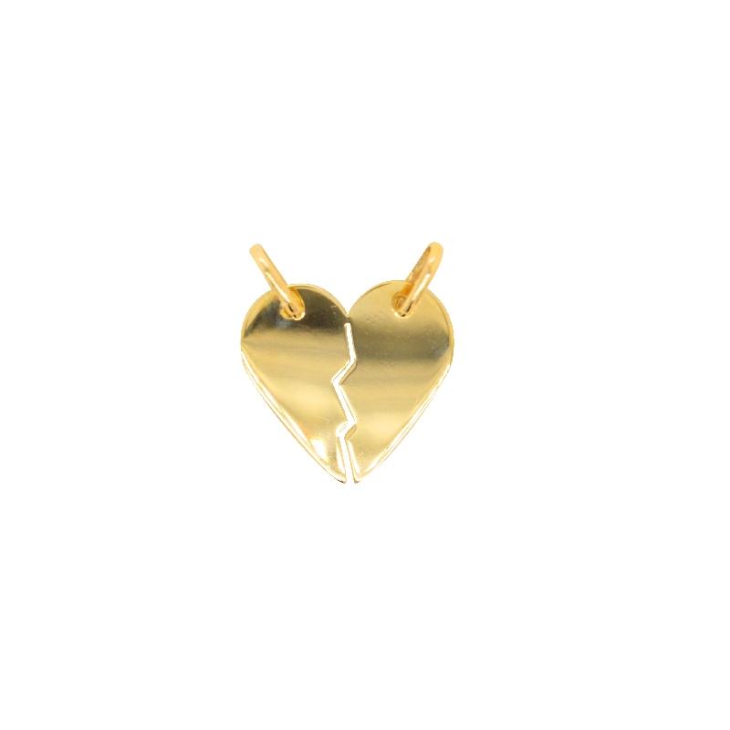 Pendentif Carador Cœur brisé en or jaune 375/000