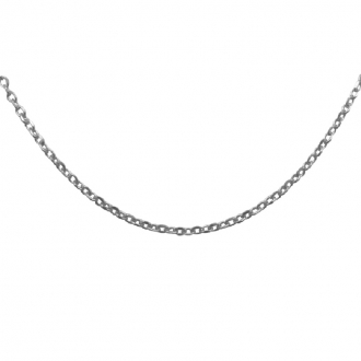 Chaîne argent 925/000 Carador maille epaisse forçat diamantée longueur du collier 50cm