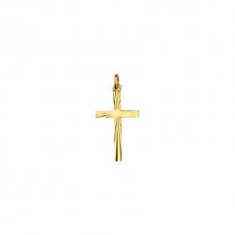 Pendentif Carador Croix ciselée en or jaune 750/000