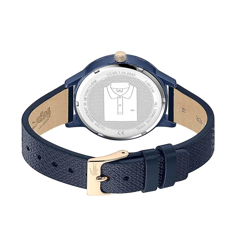 Montre Prenium 12.12 Lacoste cuir bleu 2001091