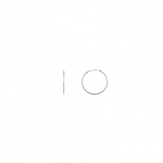 Boucles d'oreilles Carador Créoles 16x12 mm or blanc 375/000