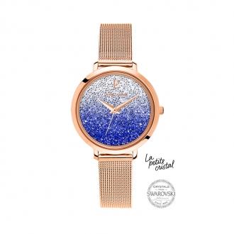 Montre La petite Cristal Pierre Lannier acier doré rose 108G968