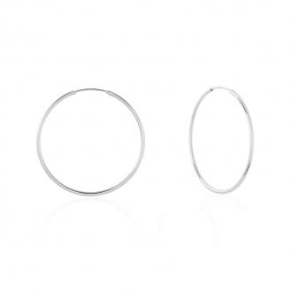 Boucles d'oreilles créoles argent 925/000 Diamétre 5 cm