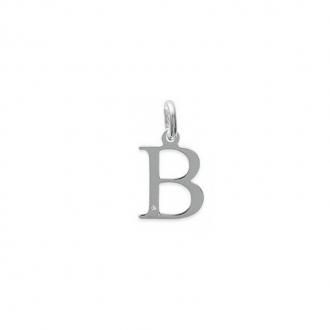 """Pendentif initiale """"B"""" argent 925/000 et Oxyde de zirconium"""