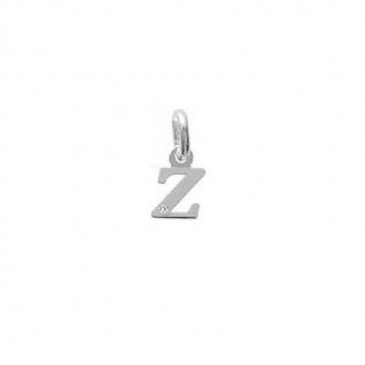 "Pendentif initiale ""Z"" argent 925/000 et Oxyde de zirconium CARADOR"