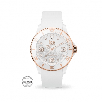 Montre ICE-WATCH ICE Crystal White Rose-Gold Smooth MEDIUM 017248