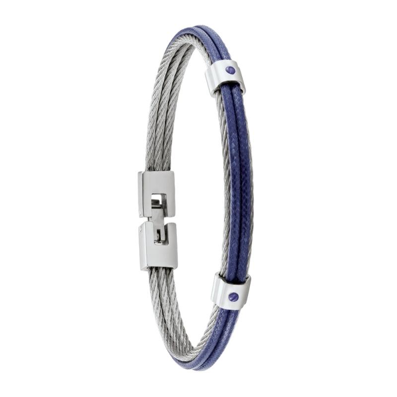 Bracelet homme FUF Jourdan Bijoux bleu HB 035 H