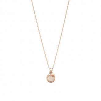 collier femme Fossil collection Classics acier doré rose JF03265791