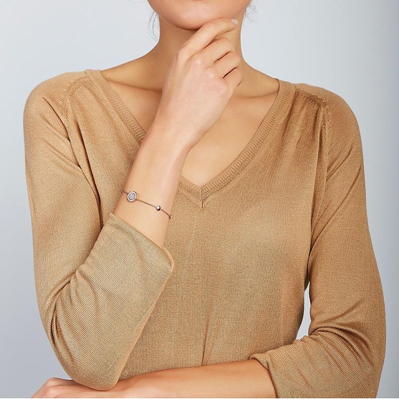 Bracelet femme Fossil collection Classics acier doré rose JF03264791