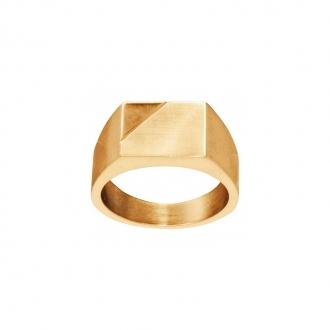 Chevalière Phebus acier doré
