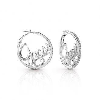 Boucles d'oreilles créoles Guess Authentics argenté UBE85077A