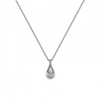 Collier éternel Femme Carador or blanc 750/000 et diamants