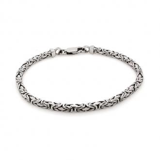 Bracelet maille balinaise carrée 3 mm Carador en argent 925/000