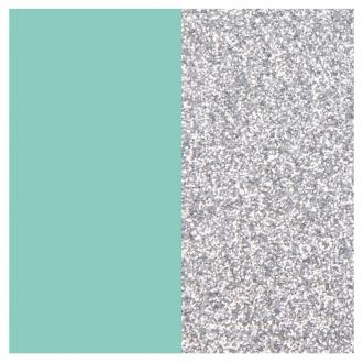 Vinyle pour bague 12 mm Les Georgettes Bleu Vert d'eau/Paillettes argentées 703018584CX000