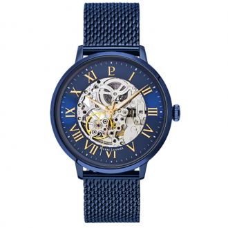 Montre Pierre Lannier Automatic acier bleu 318B468
