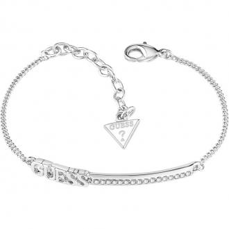 Bracelet Guess UBB82037A-S en métal rhodié.