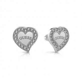 Boucles d'oreilles coeur UBE78054 de la marque GUESS