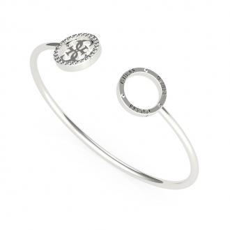 Bracelet en acier rhodié cristaux de Swarovski UBB79080-S de la marque Guess