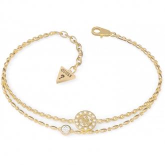 Bracelet Guess acier doré deux rangées