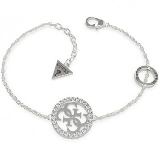Bracelet Guess acier rhodié logo 4g