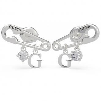 Boucles d'oreilles Guess acier argenté