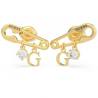 Boucles d'oreilles Guess acier doré