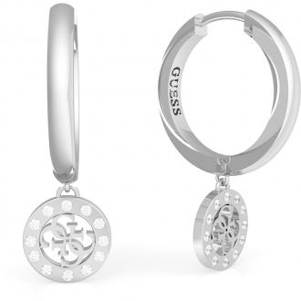 Boucles d'oreilles anneaux acier rhodié