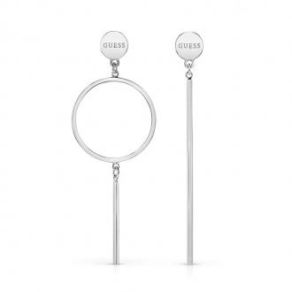 Boucles d'oreilles Guess pendantes en acier