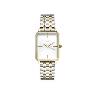 Montre femme Rosefield acier doré bracelet bicolore