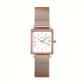 Montre femme Rosefield acier doré rose bracelet milanais