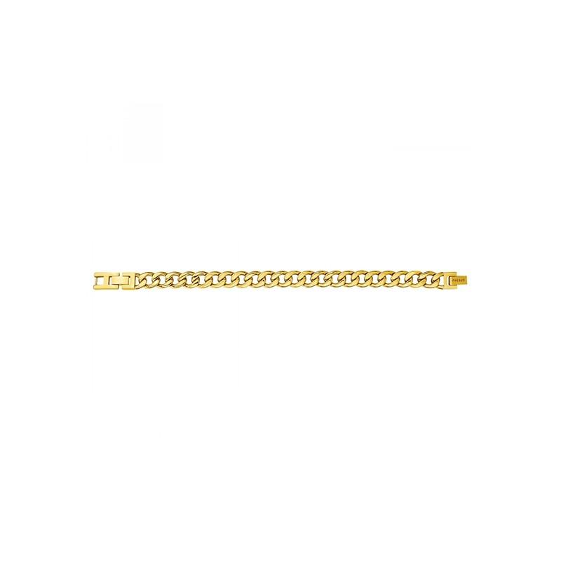 Bracelet Phebus maille gourmette homme acier doré