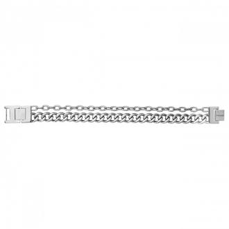 bracelet Phebus homme double chaine acier
