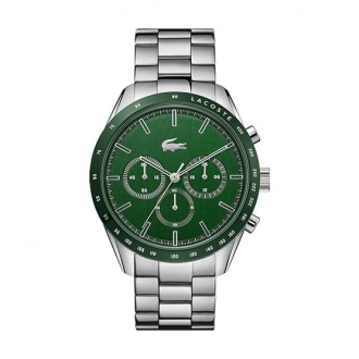 Montre Lacoste homme Boston argentée et verte