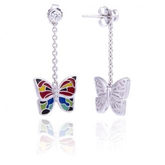 Boucles d'oreilles Una Storia Papillon argent 925/000