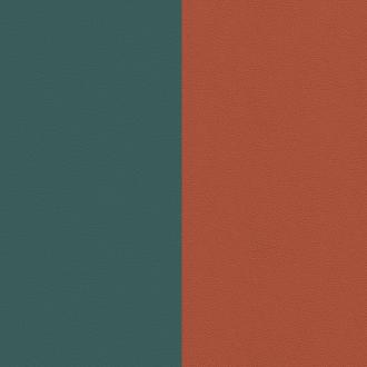 Vinyle simili pour bague 8 mm Les Georgettes Bleu minéral/ Argile rose