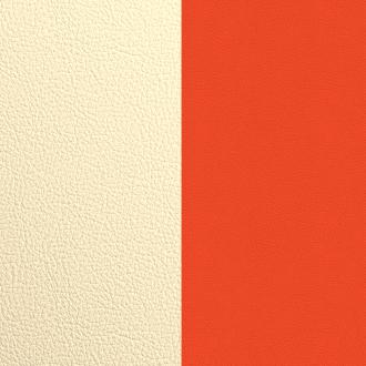 Vinyle simili pour boucles d'oreilles 16mm Les Georgettes Satin doré/ Capucine