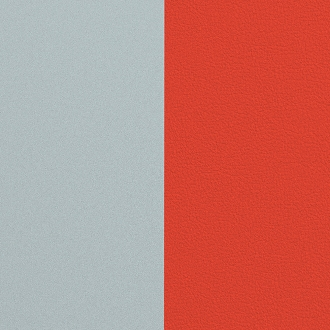 Vinyle simili pour boucles d'oreilles 16mm Les Georgettes Perle Bleue / Tomette