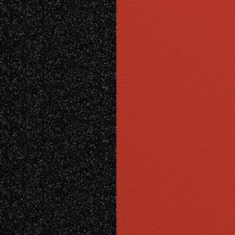 Vinyle simili pour bague 12 mm Les Georgettes Noir paillettes/ Rouge
