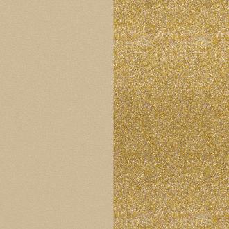 Vinyle simili pour bague 8 mm Les Georgettes Crème/ Paillettes dorées