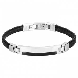 Phebus - Bracelet cuir, acier et céramique 35-0809